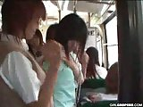 Asian Lesbian Teens Fuck In Subway!
