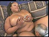 Bbw Ebony Takes White Cock
