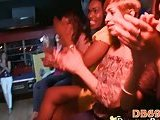 Blowing stripper during hot party
