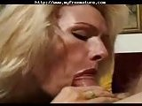 Sexy Blond Mom Gives Head