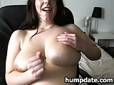 Sweet babe with large titts toying her pussy