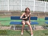 Horny Chick Fingering Outdoor