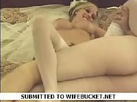Amateur bride fuck after wedding
