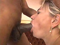 Nasty granny loves interracial hardcore