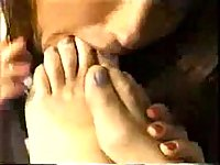 Horny Lesbians Licking Feet Each Other