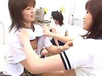 Japanese teen lesbians have fun