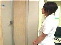 Japanese gives handjob in WC