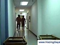 Naked gays in the dorm halls