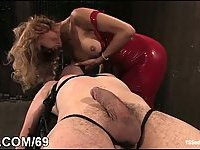 Sexy TS loves anal sex with domination