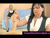 2 matures give handjob with happy ending
