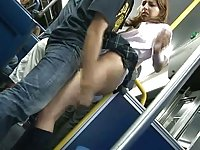 Schoolgirl groped in a bus