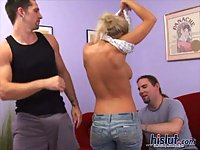 Bree Olson is taking on two guys