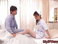 Aino Kishi Japanese nurse shows her tits