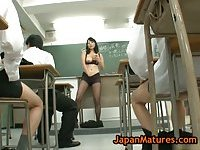 Natsumi Kitahara gets fucked by her pupils