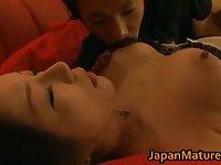 Busty Ayane Asakura loves to suck