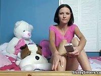 Babysitter shows off her blowjob skills