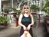 Blonde loves stripping in public