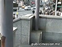 Cute Japanese tourist fucked in public