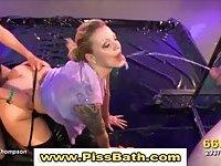 Fetish slut piss shower