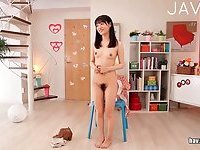 Teen Jap gal strip show