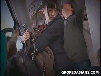 Young Schoolgirl groped in Subway