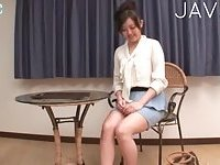 Busty Jap pissing