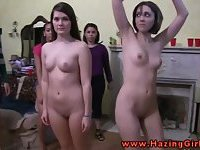 College teen amateur initiation for these babes