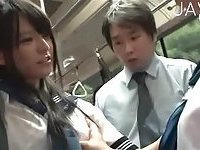 Teens tease passangers in the train