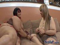 BBW girls playing hot