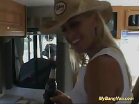 busty blonde babes first bangvan orgy