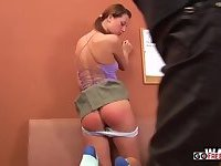 Naughty Skye Gets Spanked In The Teachers Office