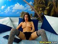 Hot Shemale Jerking her Big Hard Dick
