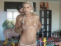 Dirty Blonde sucks a cock