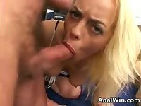Blonde With Two Thick Cocks