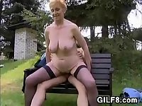 Granny Having Sex In Nature