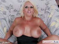 Blonde housewife Alura Jenson fucking