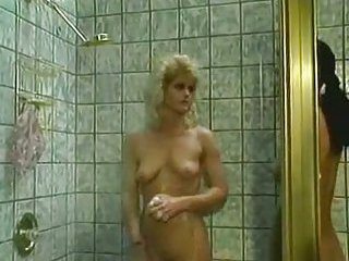 Lusty lesbians in the shower