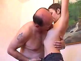 Old Guy Enjoying Fuck With Hairy Teen at passionclips.com