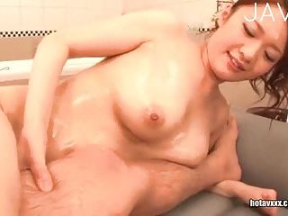 Japanese gives massage with her big boobs | Big Boobs Update