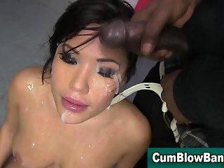 Asian slut bukakke