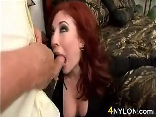 Redhead Mother In Nylons Wants Sex