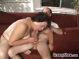 Large Grandma Being Fucked